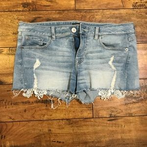 Short with design and little bit ripped